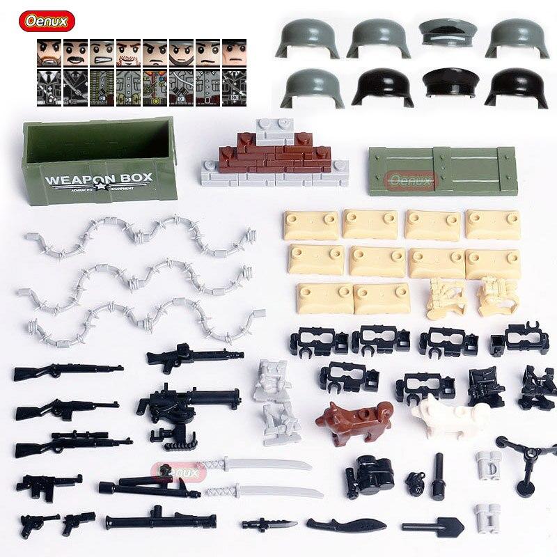 Oenux Neue WW2 Military Armee Soldaten Figuren Kleine Gebäude Block Set Klassische Militärische Waffen Zubehör Modell Ziegel Spielzeug Für Kind|Sperren|   - AliExpress