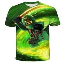 T-shirt d'été 3D pour garçons et filles, vêtements pour enfants, Ninjago, dessin animé, à la mode, 4T-14T