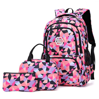 School Bags for Teenagers Girls Schoolbag Large Capacity Boys Printing School Backpack Set Rucksack Bagpack Kids Cute Book Bags