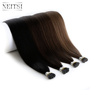 Image 5 - Neitsi  Remy I Tip Human Hair Extensions Double Drawn Stick Hair Natural Straight 24 inches