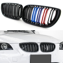 цена на Car Kidney Grill Front Bumper 2 Slat Line Gloss Black Racing Grill For Bmw E46 3 Series 4 Door 2002-2005 Styling Accessories