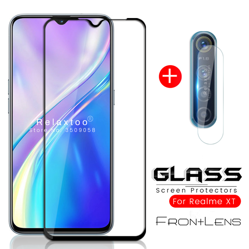 2-in-1 realmi xt glass camera protector for oppo realme xt x t tx protective glas on realmext 6.4'' armor steklo protection film