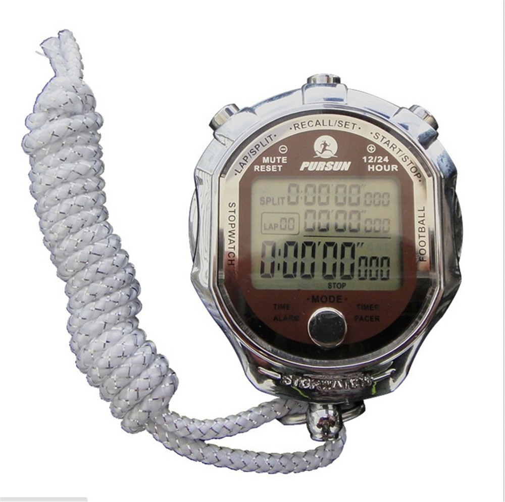 Cronómetro deportivo Digital con pantalla LCD grande, cronómetro deportivo de 1/1000 segundos con temporizador para deportes al aire libre Ultra grande, pantalla de 3