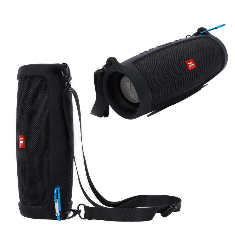 הכי חדש חיצוני נסיעות סיליקון מקרה כיסוי עור עם רצועת Carabiner עבור JBL תשלום 4 נייד אלחוטי Bluetooth רמקול