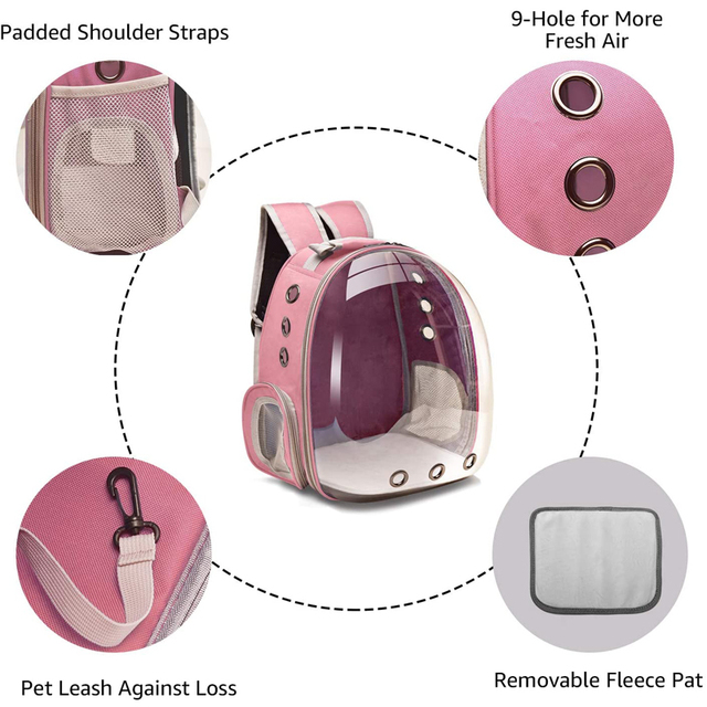 Portable Breathable Cozy Backpack Pet Carrier  2