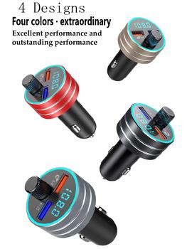 Zestaw samochodowy bluetooth z nadajnikiem FM podwójna ładowarka samochodowa USB High Speed QC 3 0 2 1A Port USB MP3 odtwarzacz muzyczny dla wszystkich telefonów komórkowych tanie i dobre opinie LUTU Aluminum alloy + ABS 100g Bluetooth hands-free calling 3 8cm*7cm