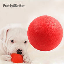dog toy ball pet toy bite resistant sound making elastic ball large dogs molar golden retriever teddy tooth cleaning training ba Pretty&Better Dog Toys For Small Large Dogs Toy Rubber Molar Train Solid Bite-resistant elastic Odorless Pet Ball big dog toys