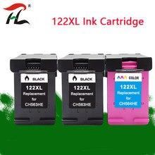 Compatível Para hp 122XL 122XL cartuchos de tinta hp 122 XL hp 122 Para hp Deskjet 1000 1050 1050A 1510 2000 2050 3000 3050 Printer