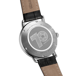 Image 5 - Nova edição limitada mar goll 70th aniversário da fundação da china seagull relógio automático mecânico 819.12.1949 w/jornal