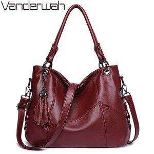 Image 1 - หนังนุ่มพู่กระเป๋าถือหรูผู้หญิงกระเป๋าออกแบบกระเป๋าถือคุณภาพสูงสุภาพสตรีCrossbody Toteกระเป๋าสำหรับสุภาพสตรี2020