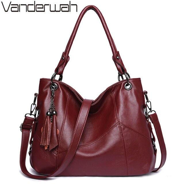 หนังนุ่มพู่กระเป๋าถือหรูผู้หญิงกระเป๋าออกแบบกระเป๋าถือคุณภาพสูงสุภาพสตรีCrossbody Toteกระเป๋าสำหรับสุภาพสตรี2020