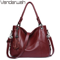 Genuine Leather Tassel Luxury Handbags Women Bags Designer Handbags High Quality Ladies Crossbody Hand Tote Bags For Women 2019