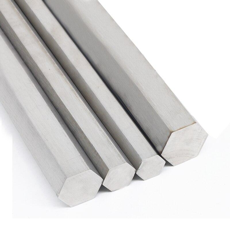 304 Stainless Steel Hex Rod Bar Shaft 5mm 6mm 7mm 8mm 10mm 12mm 15mm Linear Metric Hexagonal Stock Ground 300mm Customize Length