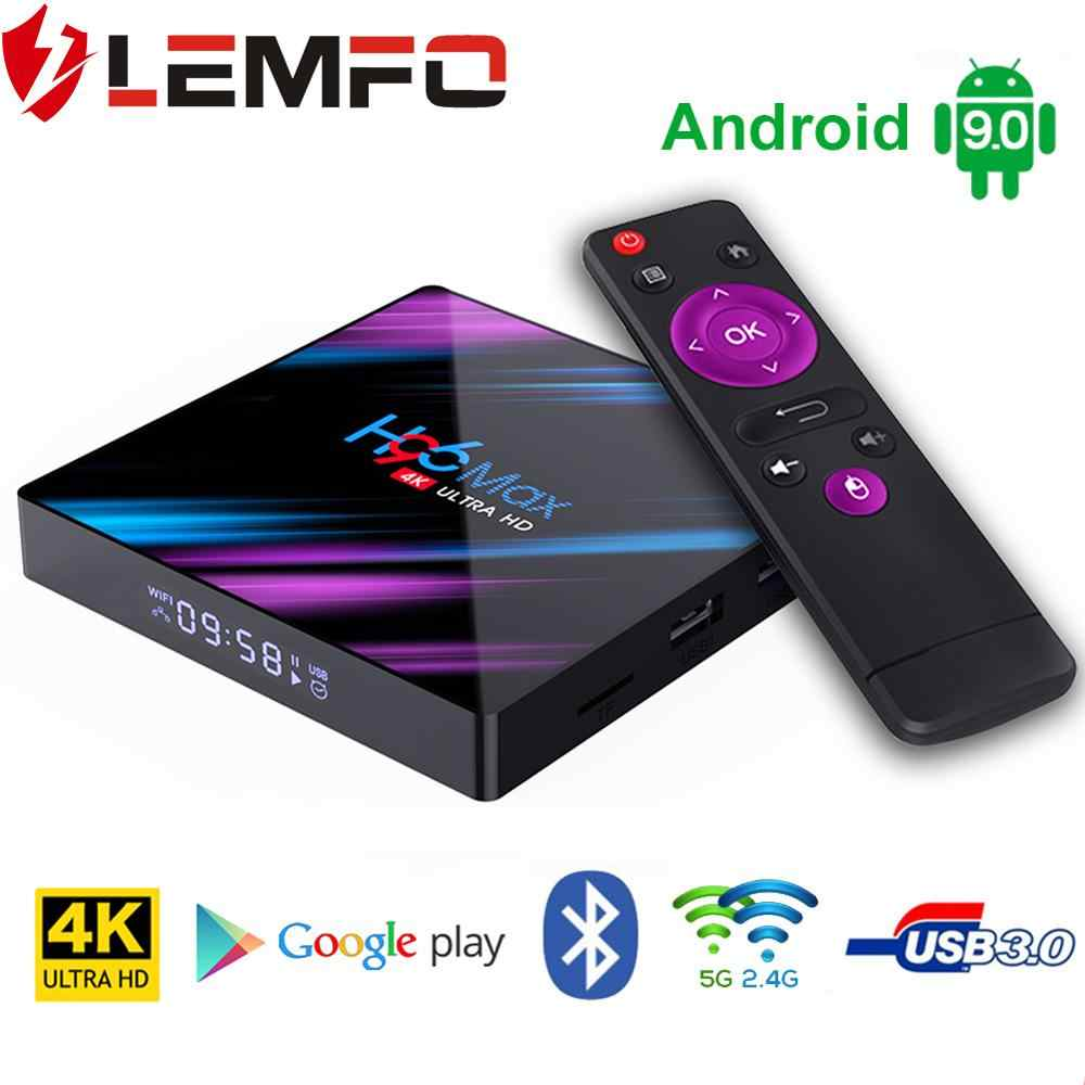 LEMFO H96 MAX Smart TV Box Android 9.0 Rockchip RK3318 4GB 64GB Bluetooth 4.0 Support HDMI 2.0 RKMC 18.1 4K H.265 HD Google Play