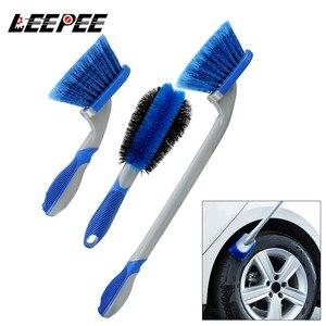 Image 1 - Leepee carro roda pneu escova de limpeza carro poeira ferramenta de lavagem de automóveis multi funcional detalhando combinação ferramentas