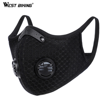 WEST BIKING Anti Dust Training Mask Cycling Masks With Filter PM2.5  Anti-Pollution Training  Mask Washable Bicycle Mask