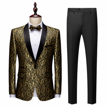 Men Tuxedos Banquet Stage Costume Business Party Prom Groom Wedding Suits Shawl Lapel Slim Fit Ball Nightclub Singer Host Dancer