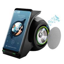 Bluetooth Speaker Fast Wireless Charger with Portable Stereo Surround Stand  Home Theater