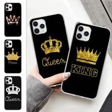 Popolar rei rainha do telefone móvel caso claro para huawei honor 8x 10i 20i 20 lite transparente capa fundas