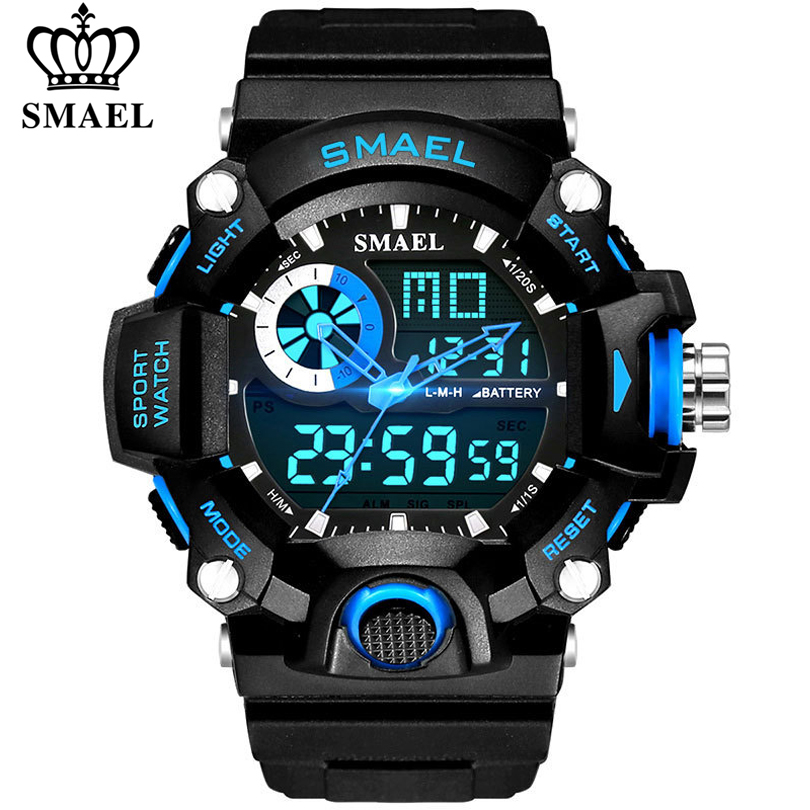 SMAEL Watches Men Military Army Watch Led Digital Mens Sports Wristwatch Male Gift Analog Shock Watch Relogio Masculino Reloj|Sports Watches| |  - title=