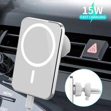 Wireless Car Charger Airvent Mountแม่เหล็กAdsorbableสำหรับIphone 12 Pro Max Miniชาร์จได้อย่างรวดเร็วMagsfing Magsave