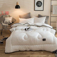 Winter white comforter warm bed quilts washed cotton pastoral style home duvets 200*230cm thicken covers king size throw quilts