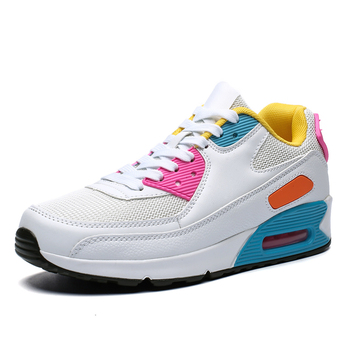 2020 Popular Fashion Casual Shoes for Men Air Cushion Sneakers Man Lace-up Breathable Max Walking Trainer Male Tenis Feminino - white pink, 41