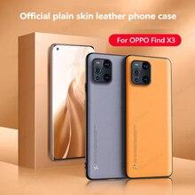 OPPO bulmak için X3 Pro resmi düz cilt deri telefon kılıfı OPPO bulmak için X3 lüks Premium her şey dahil lens kılıfları Fundas 2021