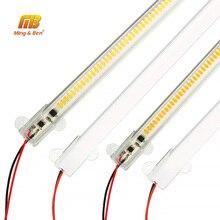 Barra de luz Led AC220V, luz de fondo de alto brillo para cocina, SMD2835, barra Led de 220v, perfil para tira de led de 8W, 50cm, 30cm, 72Led