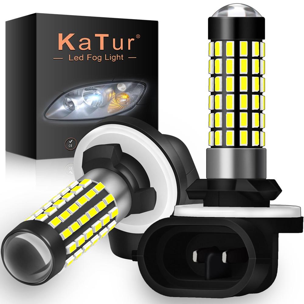 Katur 2 шт. H27W/2 881 светодиодные лампы, противотуманные фары для автомобилей, светодиодные противотуманные фары дальнего света, высокая освещен...