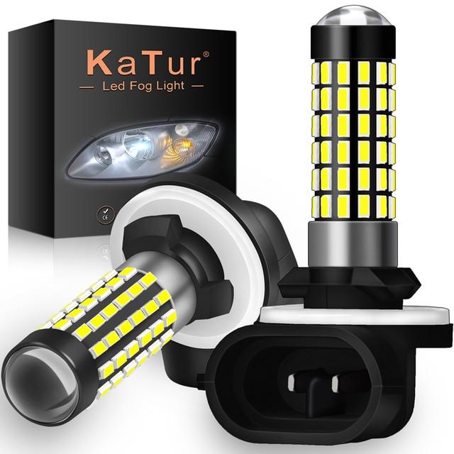 Katur 2pcs H27W/2 881 Led נורות ערפל אורות עבור מכוניות Led ערפל נהיגה מנורת גבוהה אורות רכב אור Sourse 6000K לבן H27W H27 Led