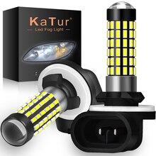 Katur projecteur Led H27W/2 881 ampoule Led, projecteur de voiture, lumière anti brouillard, lumière blanche, Sourse, 6000K H27W H27, 2 pièces