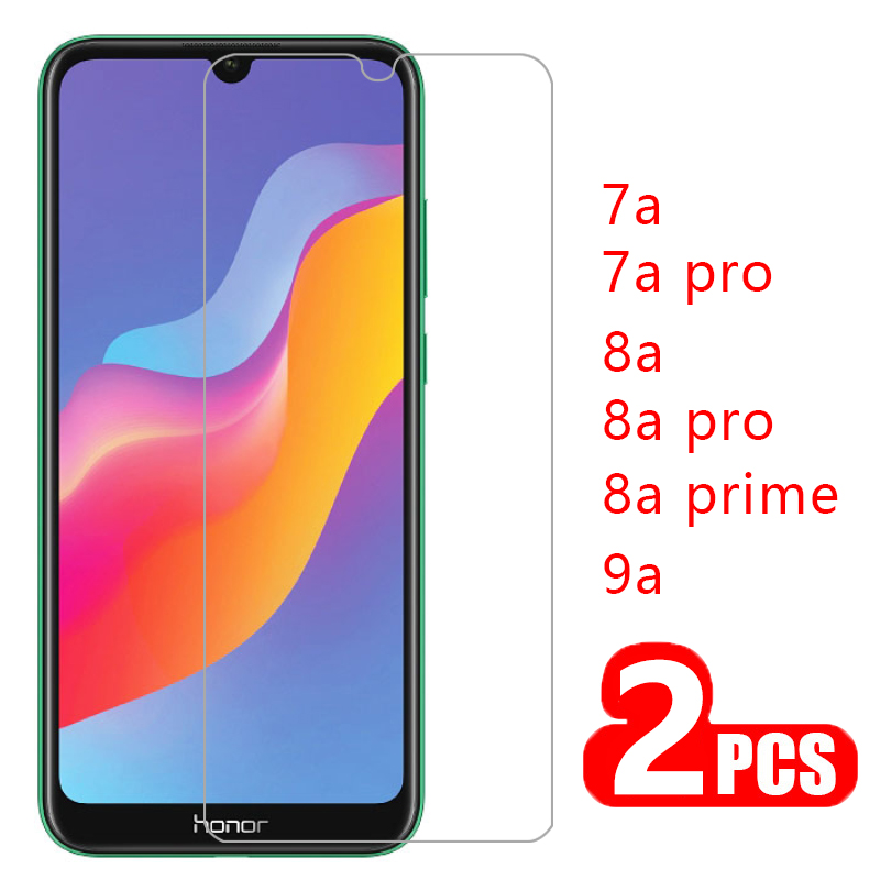 case for huawei honor 8a prime 7a pro 9a cover tempered glass screen protector on honer 7 8 9 a a7 a8 a9 protective phone coque(China)