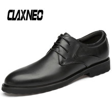 CLAXNEO Man Leather Dress Shoes Black Formal Shoe Genuine Male Oxfords Business Office Footwear