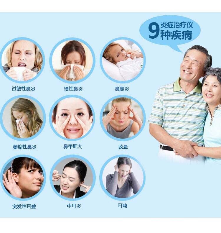 Ринит лазерная физиотерапия устройство полупроводниковая аллергия носовая обстрел хронический синусит отит медиа терапевтическое устройство