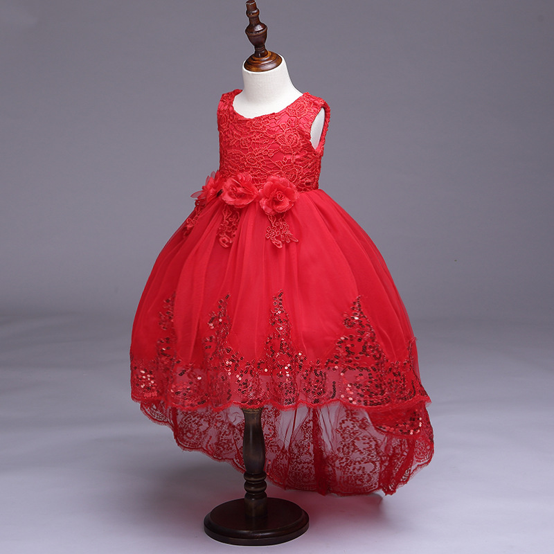 Spring And Summer New Products Flower Fairy Children Tailing Evening Gown Sequin Flower Children Princess Skirt Children Dress