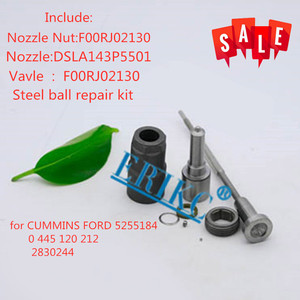 ERIKC 0445120212 Diesel Fuel Injector Overhaul Repair Kits Nozzle DSLA143P5501 Valve F00RJ02130 for CUMMINS FORD 5255184 4898271