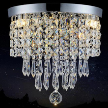 Manggic LED Round Ceiling Light with Led Brightness Corridor Lights Lamps Entrance Lamp Table Lamps Room Lamps Ceiling cheap CUOSHE CN(Origin) 5-10square meters Foyer KİTCHEN Bed Room Dining Room Bathroom Study 90-260V Wedge STAINLESS STEEL Crystal