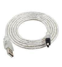 Envío Gratis 5 pies USB cable de datos usb 2,0 Firewire IEEE 1394 para MINI DV HDV videocámara para editar pc