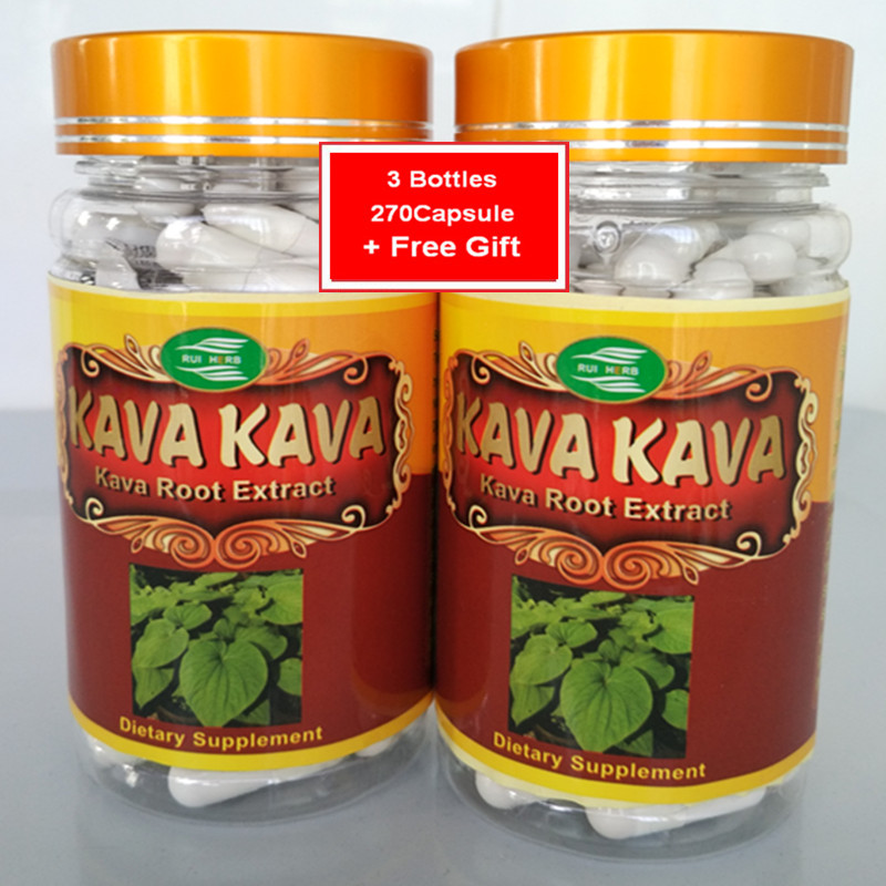 3Bottle Kava Extract Caps 500mg X 270pcs Free Shipping