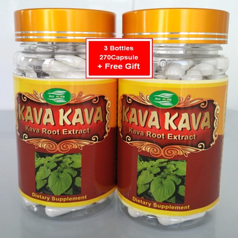 3Bottle Kava Extract Caps 500mg X 270pcs Free Shipping