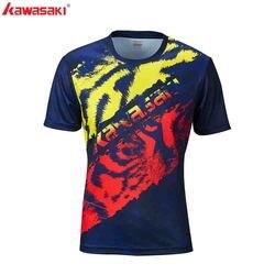 2020 Kawasaki бадминтон Футболка Мужская теннисная рубашка быстросохнущая с коротким рукавом тренировочная Специальная цена рубашки для мужчин ...