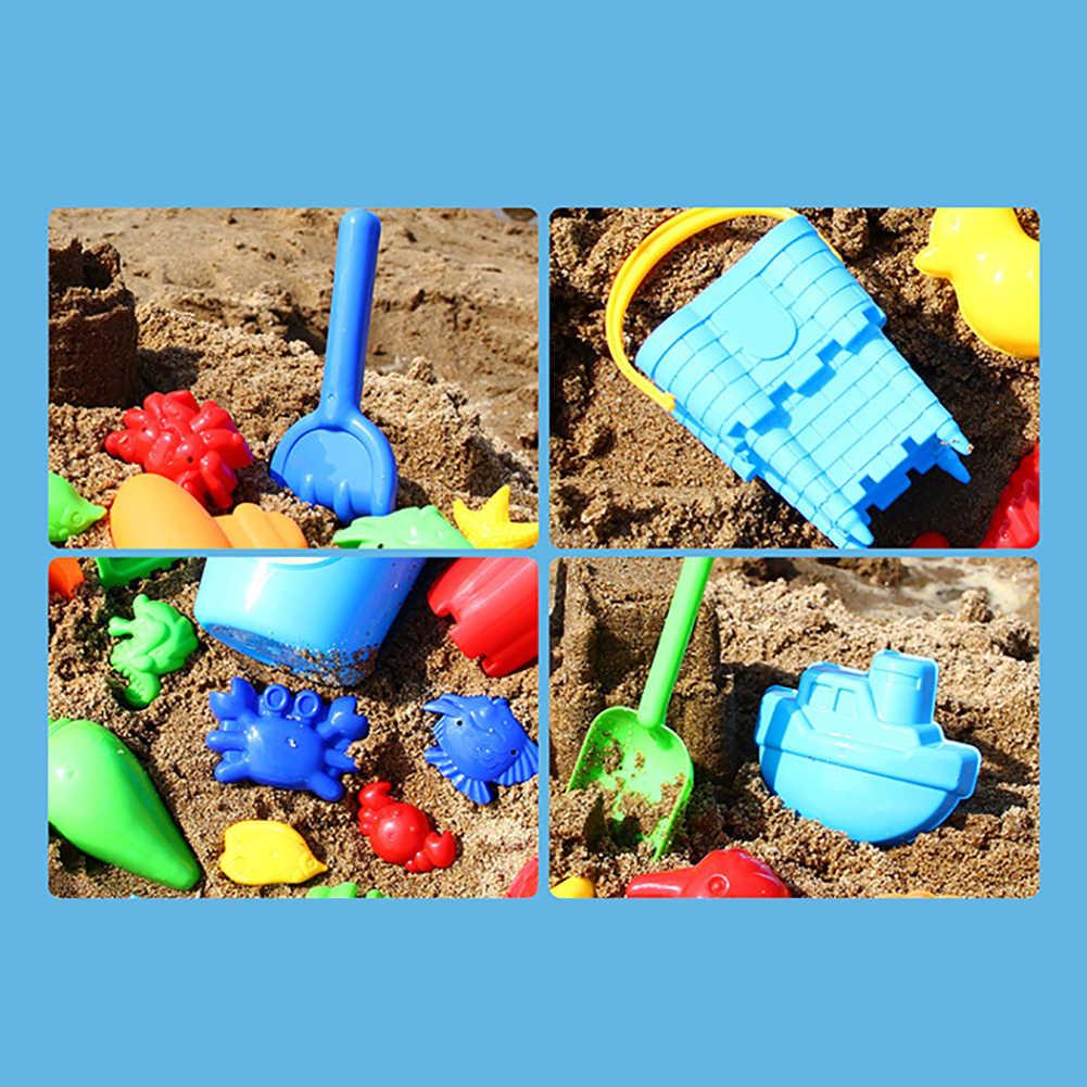 Juguetes de playa de arena para niños, pala de Castillo, caja de arena, juego de herramientas, moldes, herramientas divertidas nuevo