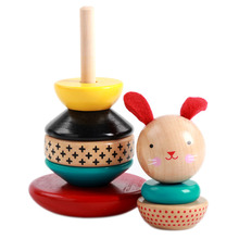 Wooden Educational Toys For Baby Kids Stacking Blocks Bunny Learning Toys Montessori Balancing Toy