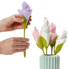 Suporte de guardanapo doméstico coleta de papel toalha titular ferramenta rolo flor guardanapo decoração mesa arranjos