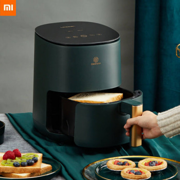New Xiaomi Mi 2.5L 1400W/220V Electric Deep Fryer Air Fryer Electric No Oil Free Health Oven Timer Temperature Control Power df5g free standing electric temperature controlled commercial deep donut large capacity chicken chip fish fryer with basket