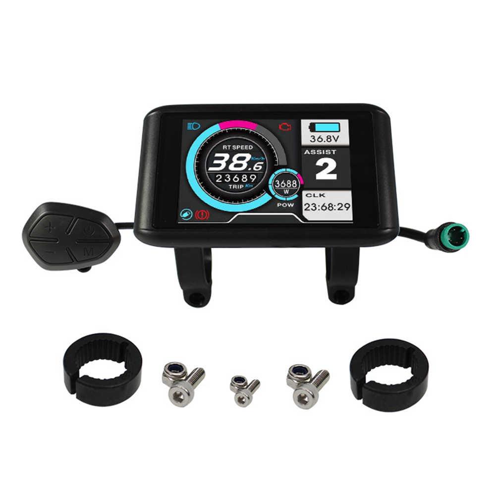 24-72 в, счетчик с дисплеем и панелью управления для электронного велосипеда/велосипеда, спидометр, детали для электрического велосипеда