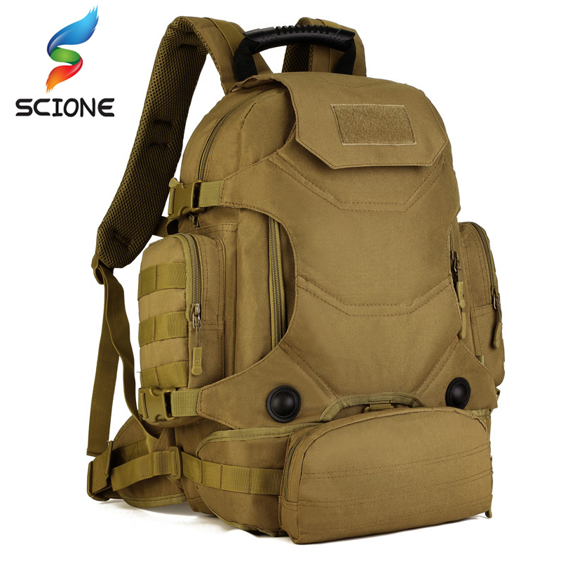 Outdoor Hot 2 Set Military Tactical Backpacks Camping Bags Mountaineering Bag Men's Hiking Rucksack Travel Backpack+Waist Pack