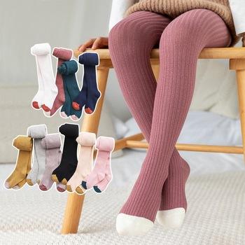 Dziecięce rajstopy dziecięce trykoty dziecięce jesienne dziecięce rajstopy zimowe ciepłe rajstopy dziecięce spodnie bawełniane cukierki kolor śliczne dziewczęce spodnie tanie i dobre opinie CN (pochodzenie) COTTON Pasuje prawda na wymiar weź swój normalny rozmiar SL200723a Dziewczyny Stałe Breathable Sweat Absorbing