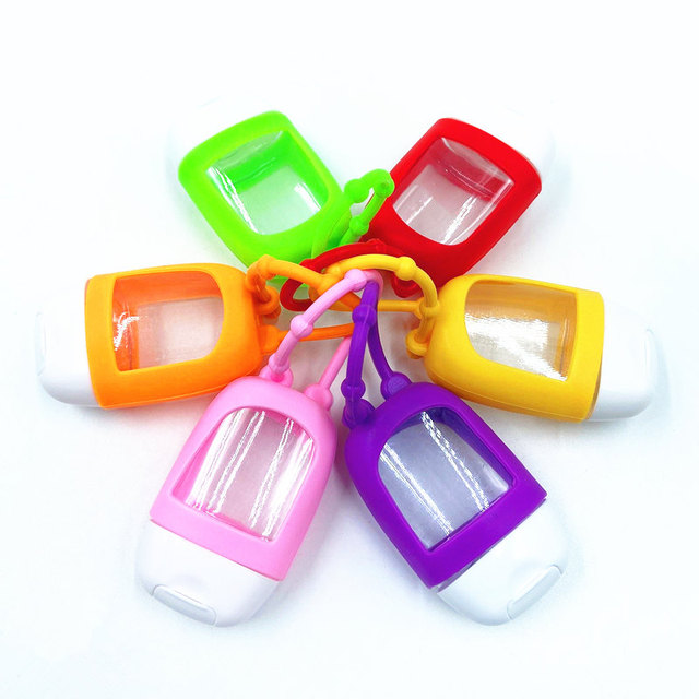1 Pc 30ml  Portable Mini Empty Bottle Traveling Refillable Bottle Silicone Protective Cover Hand Sanitizer Sub Bottle 3